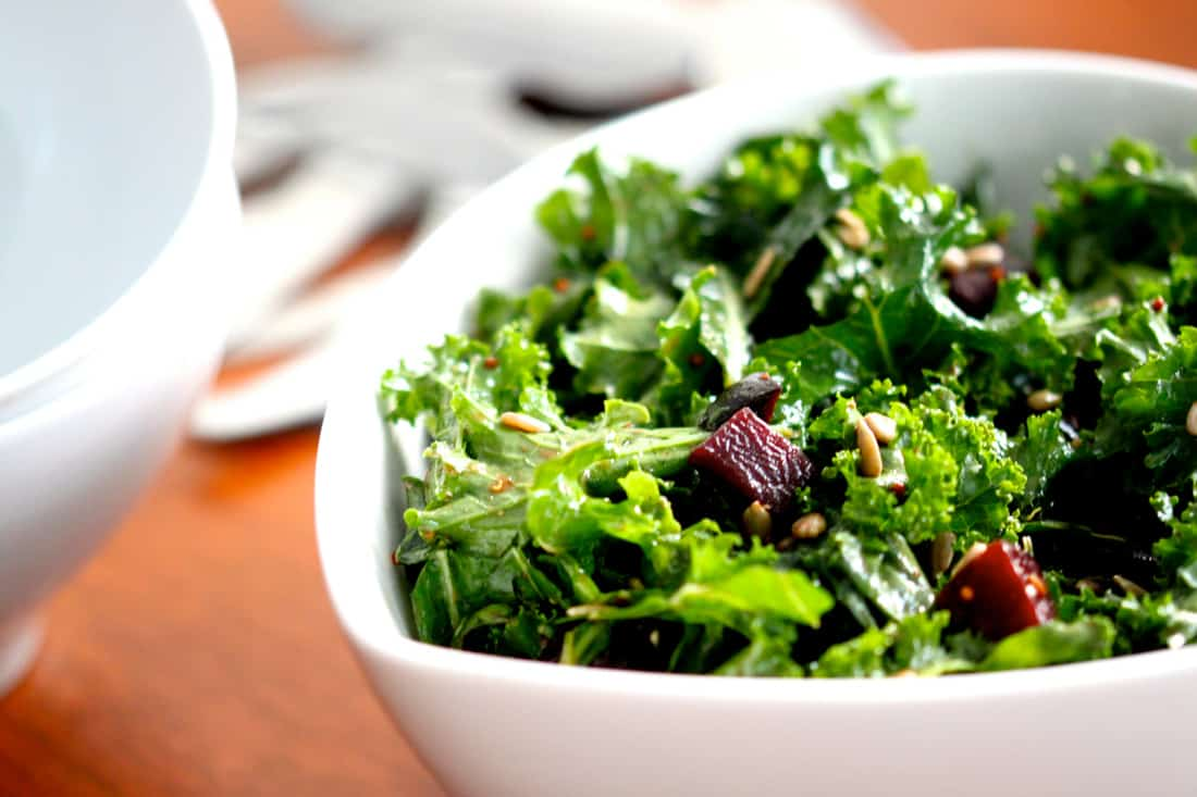 Kale Salad with Roasted Beets & Balsamic