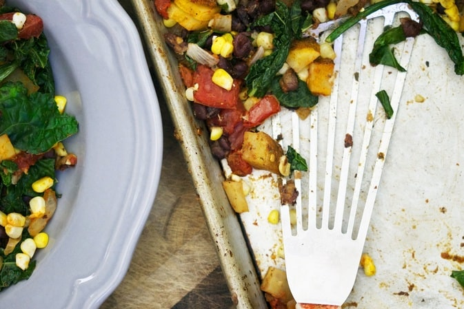 One-Tray Dinners: One Tray Southwest Vegetable Bake