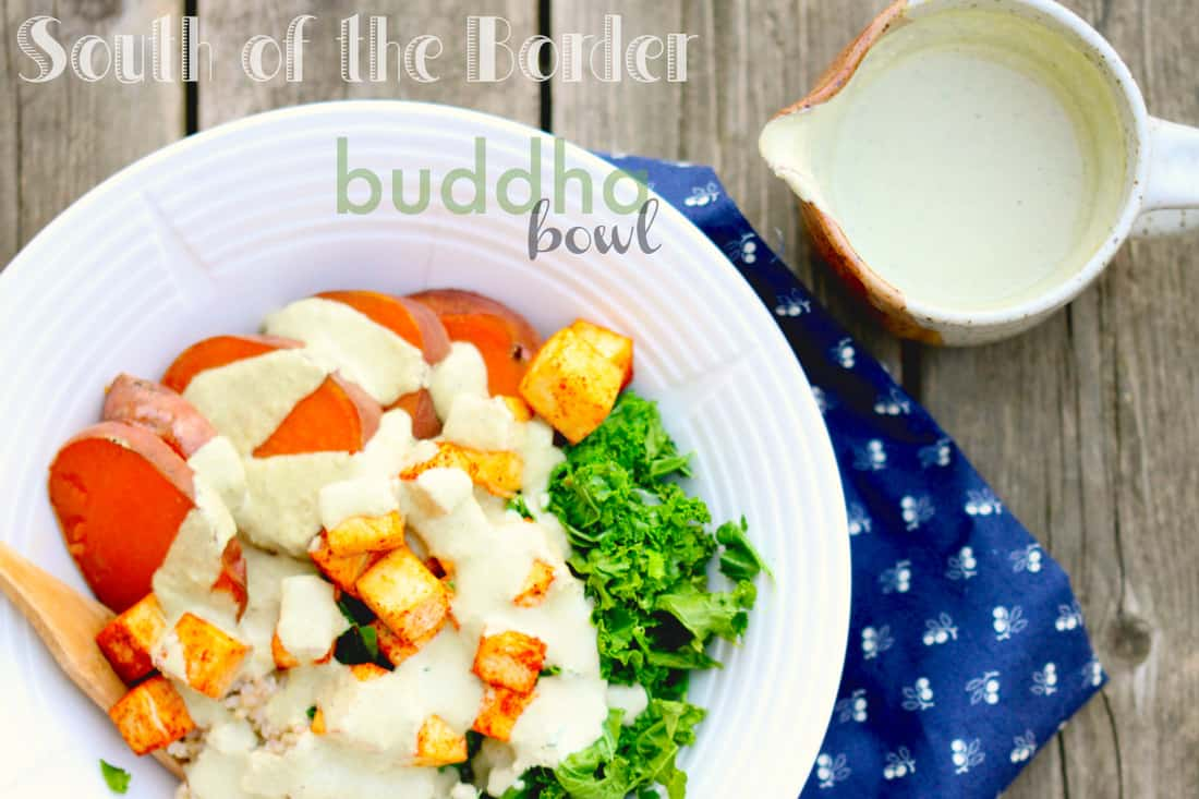 South of the Border Buddha Bowl with Creamy Pumpkin Seed Dressing