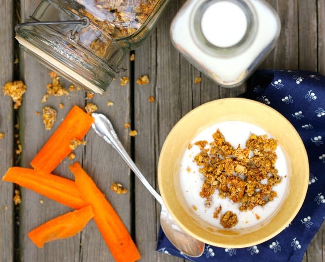Carrot Cake Granola Clusters
