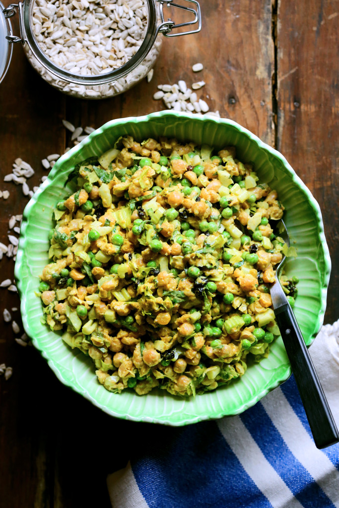 Spring Chickpea Salad with Curry Mayo