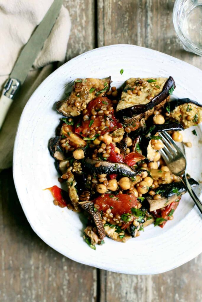 Grilled Vegetable, Wheat Berry & Chickpea Salad with Smoky Cumin ...