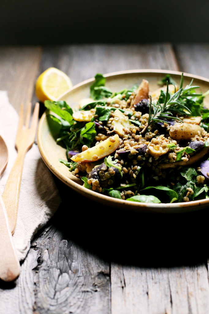 Potato, Arugula, and Lentil Salad with Rosemary