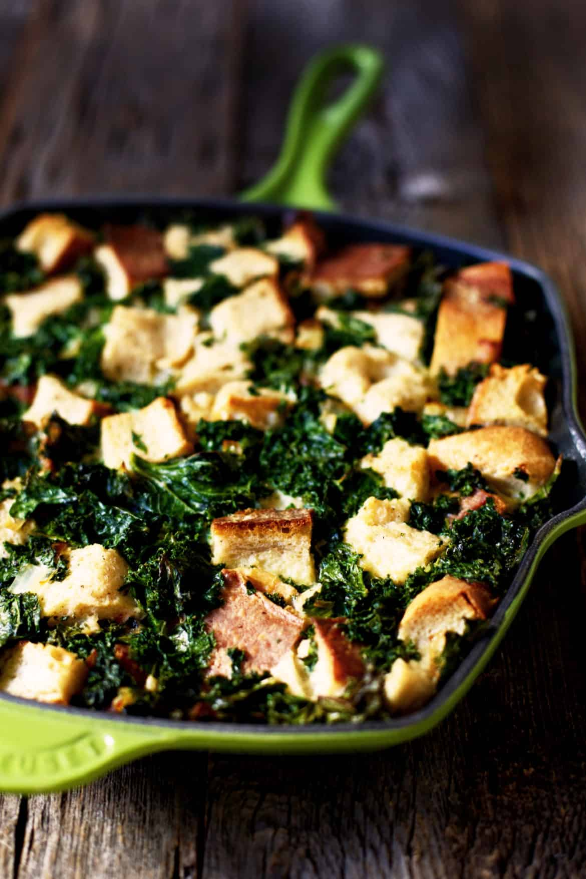 Overnight Kale Breakfast Strata