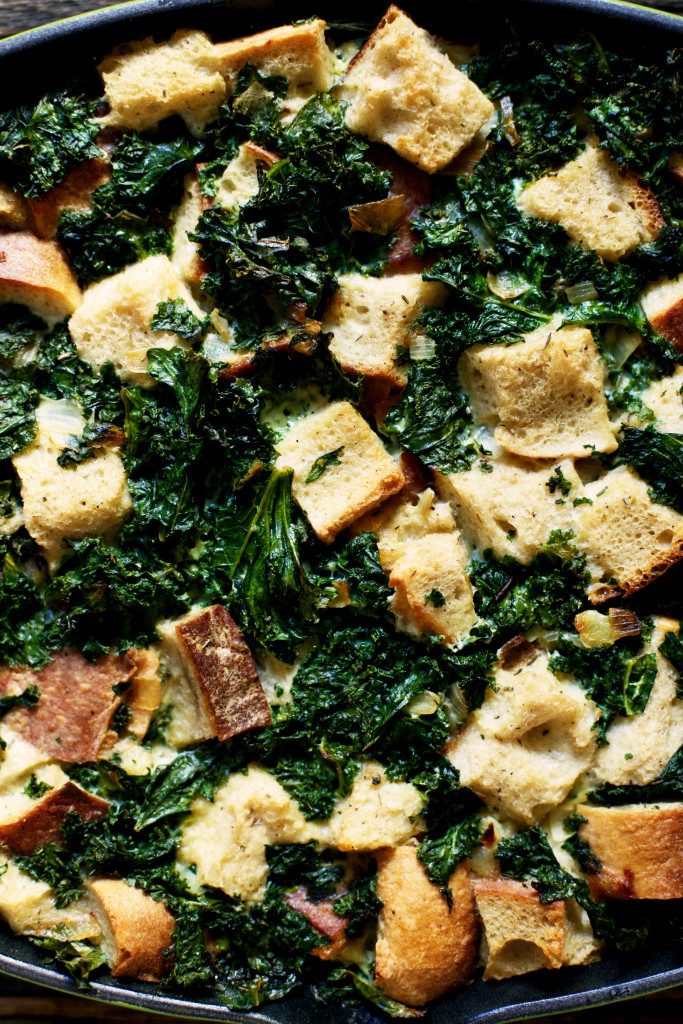 Strata recipe with kale