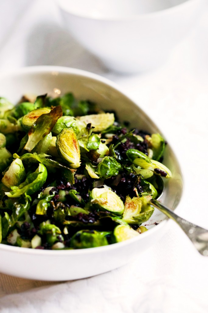 Black Rice & Roasted Brussels Sprouts with Clementine Flax Citronette 2 copy