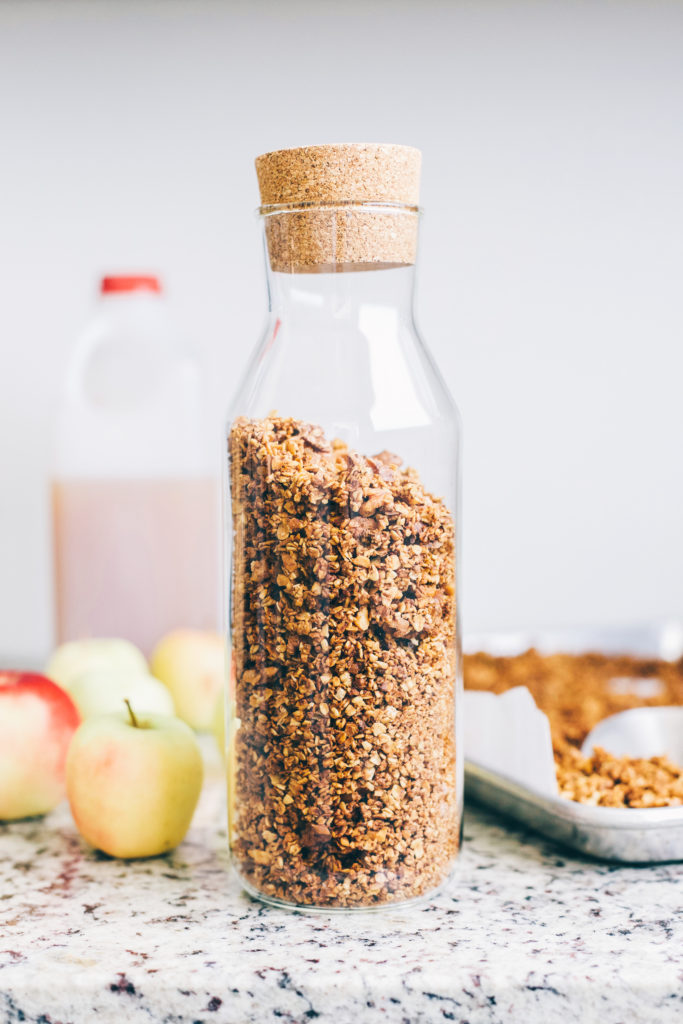 Naturally Sweetened Apple Cider Granola