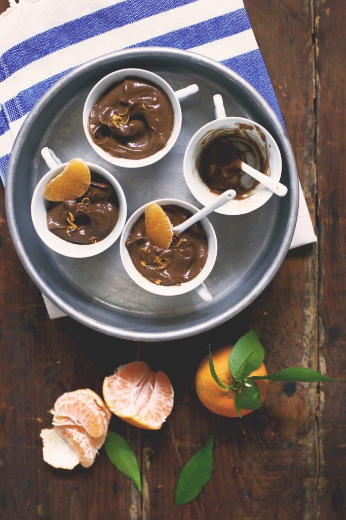 Macadamia Milk Chocolate Orange Avocado Pudding