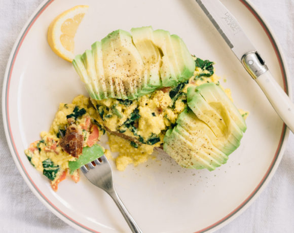 Avocado Toast with Gravlax & Herb Scrambled Eggs