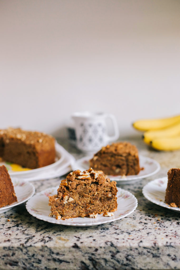 Banana Coffee Cake Recipe - Moist and delicious