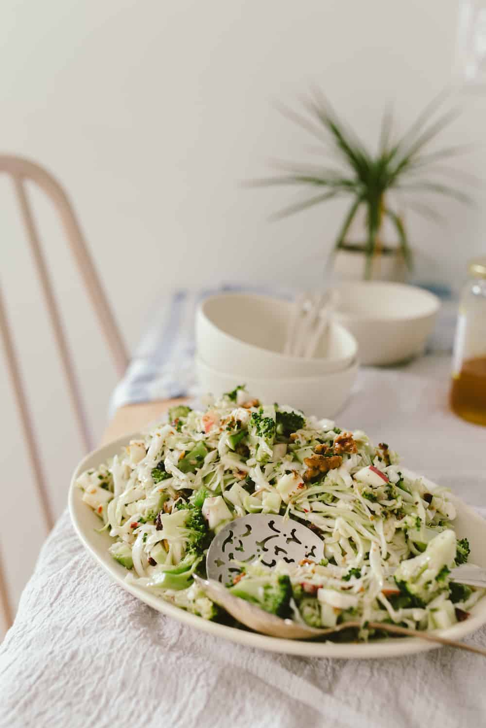 Waldorf Broccoli Salad Recipes With Apple Amp Yogurt Dressing