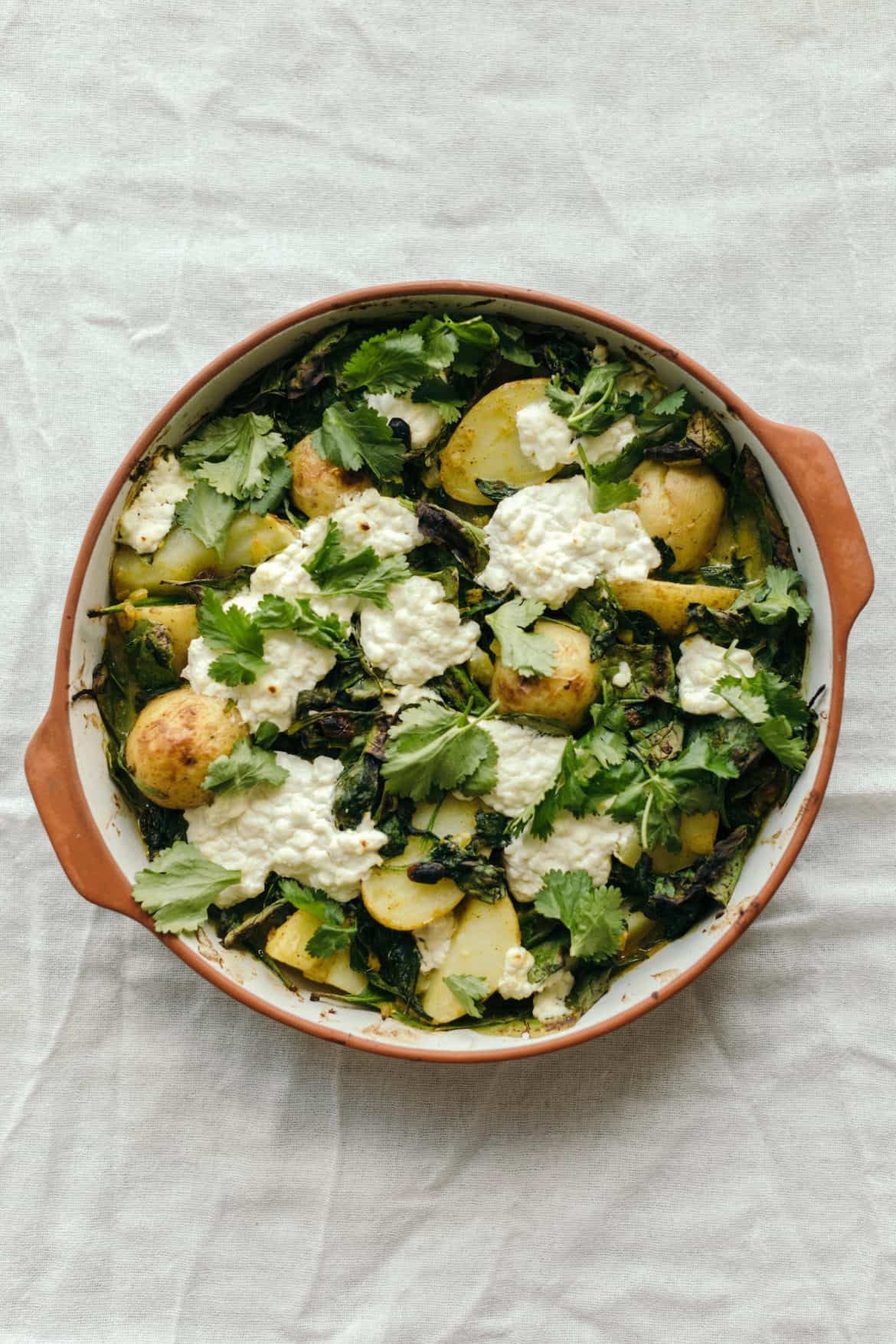 Saag Aloo Paneer Recipe (Curried Spinach, Potatoe, and Indian Cheese Recipe)