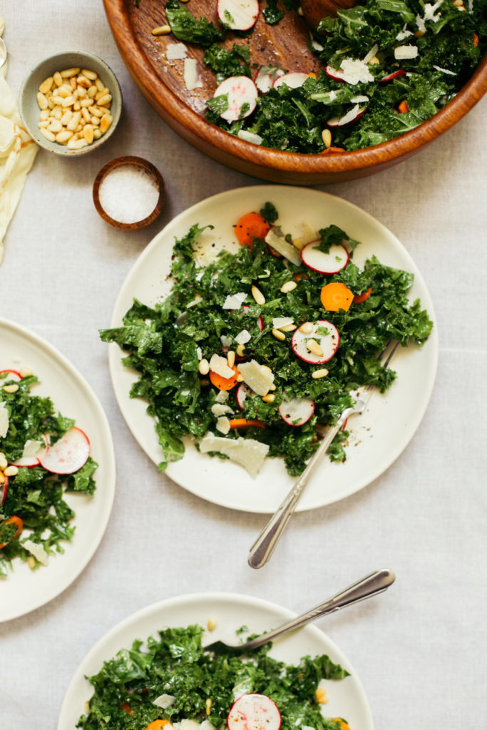 Kale Salad with healthy dressing recipe