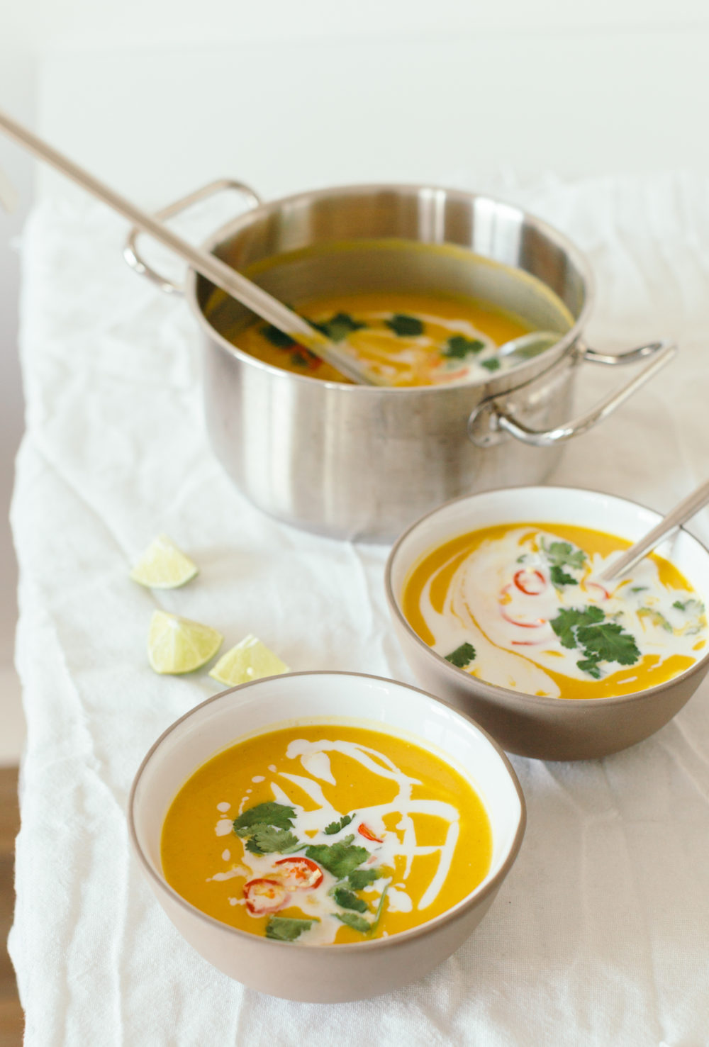 Thai Sweet Potato & Coconut Soup with Red Lentils