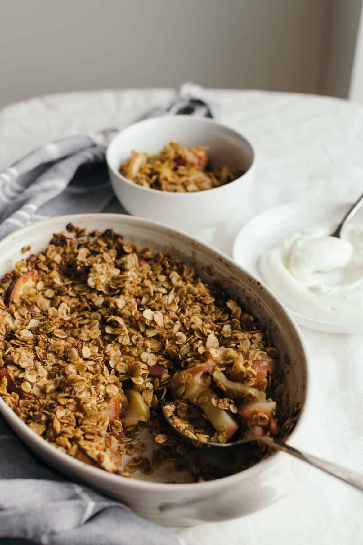 healthy apple oat breakfast crisp recipe