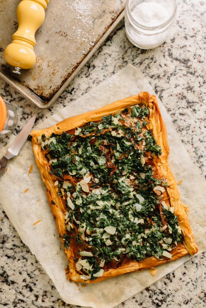 spanakopita tart recipe with kale