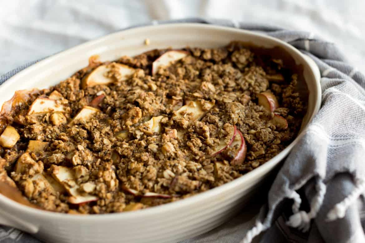 Vegan Apple Pie Baked Oatmeal Recipe