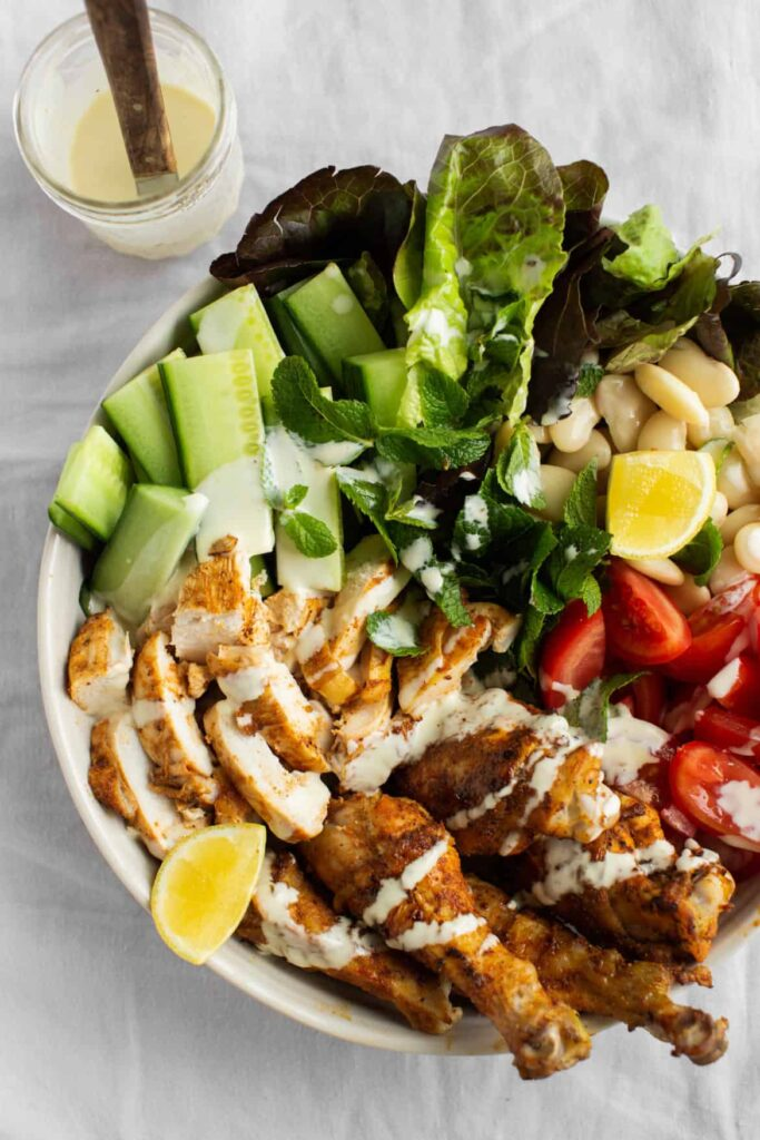 Healthy Shawarma Chicken Salad Recipe-2